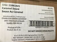 Starbucks caramel sauce pouches 2.25 lbs 6 bags march2021