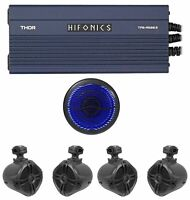 Hifonics TPS-A600.5 600w 5-Ch Amplifier+(4) Tower Speakers+10