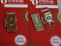 Coca Cola LONDON 2012 Olympic Brazil Welcome to the Game phone box pin