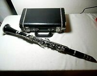 VINTAGE 1950'S-60'S NORMANDY WOOD CLARINET WITH HARD CASE MADE IN FRANCE