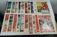Lot of 20 Vintage Chesterfield ABC Print Ads Original Tobacco Free Shipping