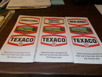 3 1970 Texaco Vintage Road Maps PA NJ and CT MA RI
