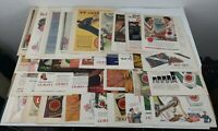 Lot of 42 Vintage Lucky Strike Print Ads Tabacco
