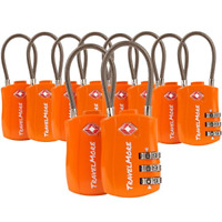 10 Pack TSA Approved Travel Combination Cable Luggage Locks for Suitcases New