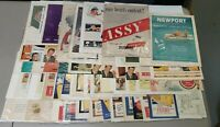 Vintage Tabacco Print Ads Lot of 50+ Lucky Strike Fatima Ect Good Condition