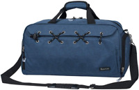 Sports Gym Bag Travel Duffel With Shoes Compartment For Men&Women (Blue)