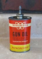 VINTAGE WINCHESTER GUN & HOUSEHOLD OIL CAN LEAD TOP OR SPOUT