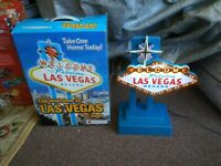 Welcome To Las Vegas Lighted Sign And Power Supply. Perfect Condition