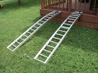 2 Foldable Aluminum ATV/Lawn mower Ramps{local pick up only} no delivery