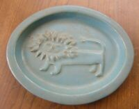 Vtg. Bennington VT Pottery ~SMILING LION DISH/PLAQUE~ David Gil Art