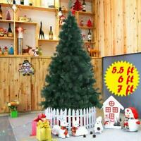 5.5/6/7/8 FT Artificial PVC Christmas Tree W/Stand Holiday Season Indoor Outdoor