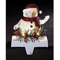 7 Inch Tall LED Snowman Stocking Holder