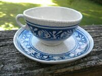 Dedham pottery bunny rabbit cup and saucer