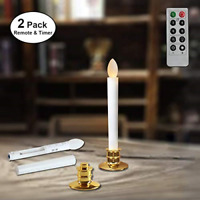 Candles with Timer Remote for Windows Battery Operated Flickering Flameless Led