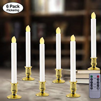 Windows Candles with Remote Timer Battery Operated Flickering LED Electric with