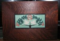 Motawi Tileworks Ann Arbor, MI signed framed tile pottery LOVEBIRDS wall art