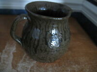 Cleater Meaders Pitcher Brown Tobacco Spit Glaze 1988 Georgia Pottery EUC 6.75quot;