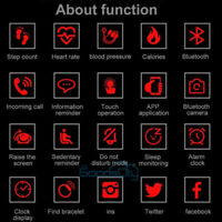 2021 Waterproof Bluetooth Smart Watch Phone Mate For IOS Android Black $18.89