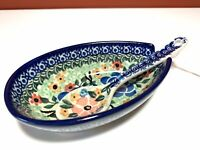 Unikat polish pottery Spoon Rest Ceramic Hand Painted Pottery Made In Poland