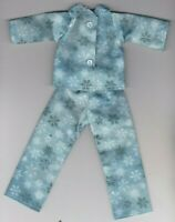 Doll Clothes CHRISTMAS Glitter Snowflakes Print Pajamas fit Barbie Homemade BC1