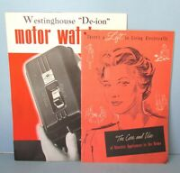 WESTINGHOUSE Advertising Brochure amp; Electric Appliance Manual Vintage