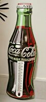 1998 Coca Cola Thermometer Metal Bottle Shaped Sign 16 1 2quot;