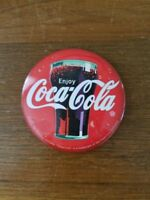 Vintage Coca Cola Pin Back Button approx. 2 quot; diam