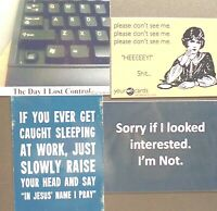 Day Lost Control Keyboard don#x27;t Sh*t sleep work pray sorry interest magnet 343 $11.39