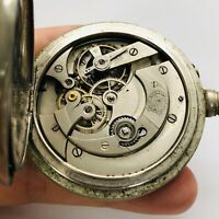 RARE BILLODES Zenith Pocket Watch Old Without Dial Big Case Vintage