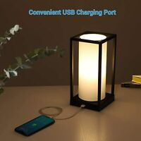 DEWENWILS Modern Table Lamp Touch Control Bedside Dimmable Desk Lamp 2 USB Port $39.99
