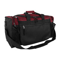 20quot; Sports Duffle Bag w Mesh and Valuables PocketsMaroon