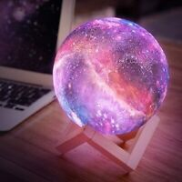 3D Galaxy Star LED Moon Lamp 16 Color Changing Night Light TouchRemote Control $22.26