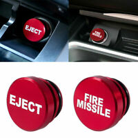 Universal Fire Missile Eject Button Car Cigarette Lighter Cover 12V Accessories $8.12