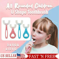 Baby Toothbrush U shaped Silicone Brush Head Cleaning Teeth for Kids 2 12 Year J