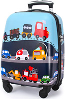 Lttxin Kids Rolling Luggage with Wheels Hard Shell Carry On Suitcase 18 inch for