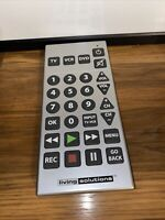 Living Solutions JUMBO Universal TV Remote Control Big Large Buttons Tested $10.00