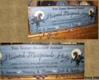 PRIMITIVE HALLOWEEN SIGN~~HEADLESS HORSEMAN~PARTY~~