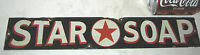 ANTIQUE USA RED STAR SOAP PORCELAIN BATH ART ADVERTISING SIGN TEXAS HOME COUNTRY
