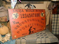 PRIMITIVE HALLOWEEN SIGN~~OUIJA BOARD~~WITCH~~MOON~~STARS~~YES~NO~~