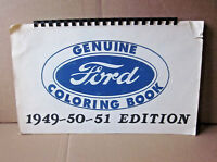 FORD vtg coloring book Detroit Motor Company throwback Tudor 1949-1951 Woodie