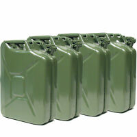 Set of 4 VALPRO 20 Liter 5 Gallon NATO Style Jerry Cans Military Spec