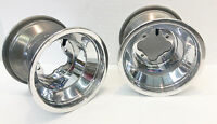 DWT Polished A5 Rolled Lip ATV Rear Wheel PAIR 9