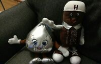 x2 Lot BENDABLE HERSHEY'S CHOCOLATE KISS & BAR PLUSH STUFFED ANIMAL GIRL BOY B