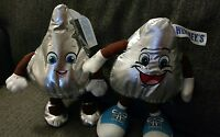 x2 Lot BENDABLE HERSHEY'S CHOCOLATE BOY & GIRL KISS PLUSH STUFFED ANIMAL World