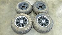 13 Polaris Scrambler 850 XP HO atv front and rear wheels rims and tires set