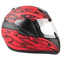 Matte Red Kids Motorcycle Helmet Youth Full Face Small Medium Large XL