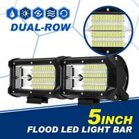 5Inch 288W Cree Led Work Light Bar FLOOD Driving Offroad 4WD Truck SUV ATV 6