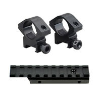 Dovetail Picatinny Rail Adapter w/ Scope Ring Mounts fits Mossberg 702 Plinkster