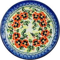 Polish Pottery Unikat Salad Breakfast Dessert Plate 7.5