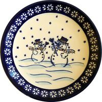 Polish Pottery Unikat Salad Breakfast Dessert Plate 7.75